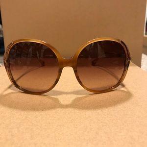 Michael Kors Blonde Horn Serena Sunglasses